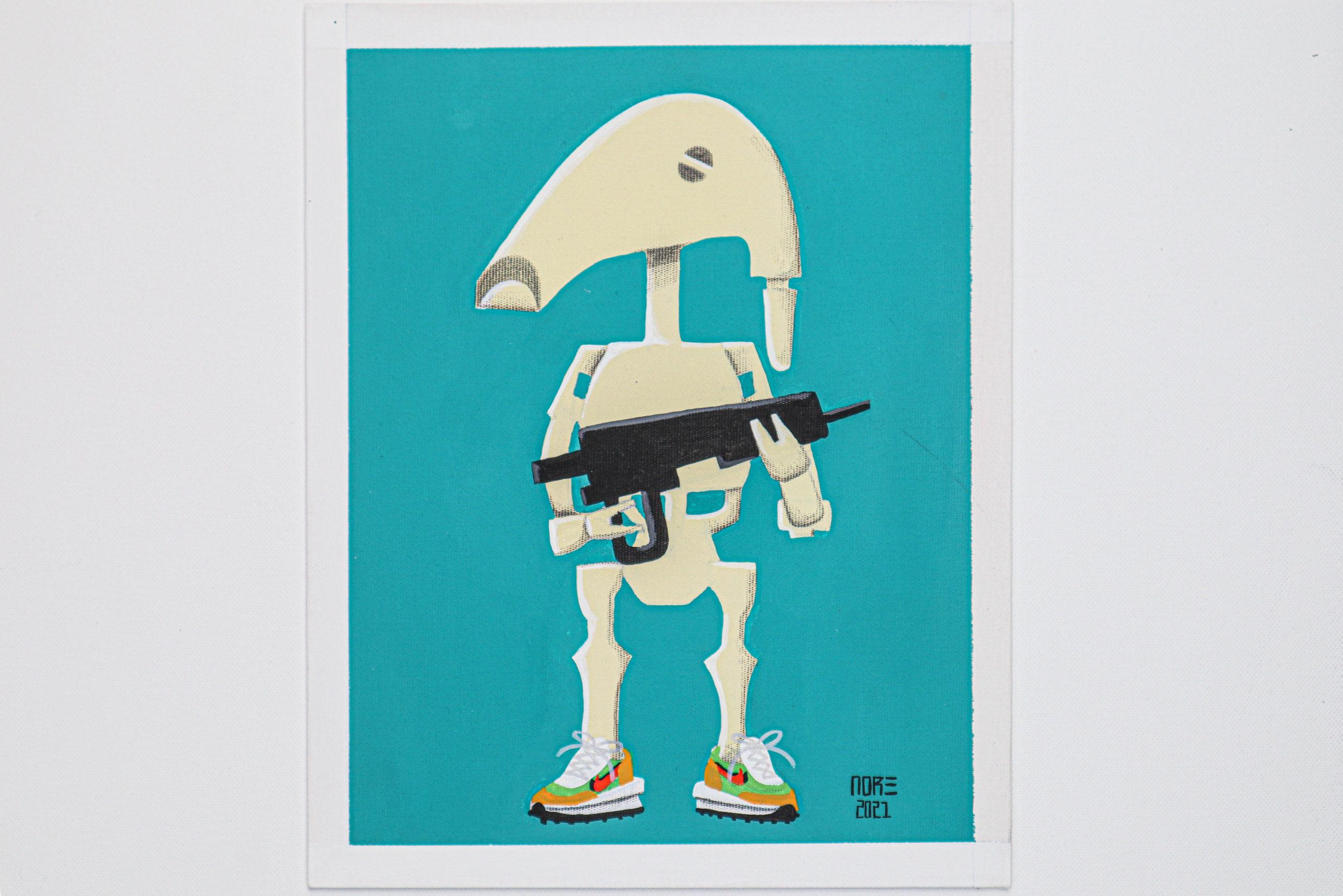 """B1 Droid x Nike Sacai"""