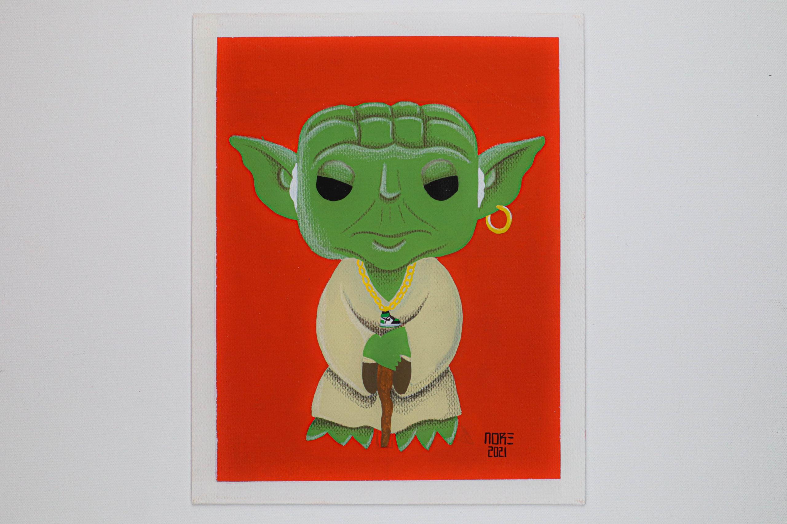 """Yoda x Jordan 1 green Og"""